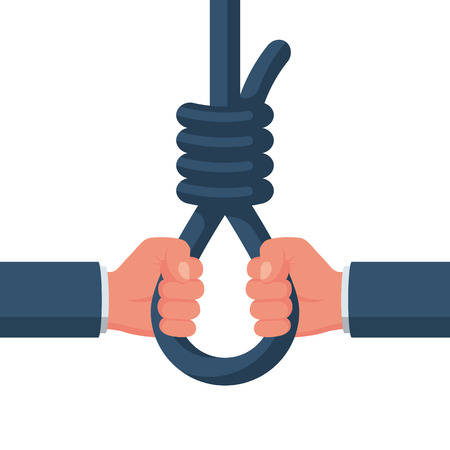 Rope with a loop for hanging in hands.  イラスト・ベクター素材