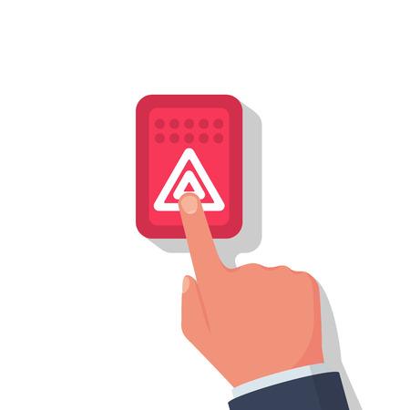 Alarm button car. Alarm system Vector Illustration