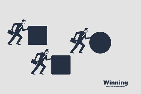 Winning strategy business concept