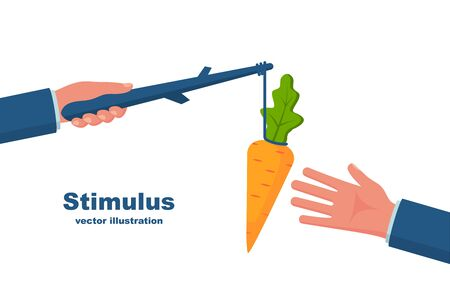 Stimulus concept. Business metaphor vector style