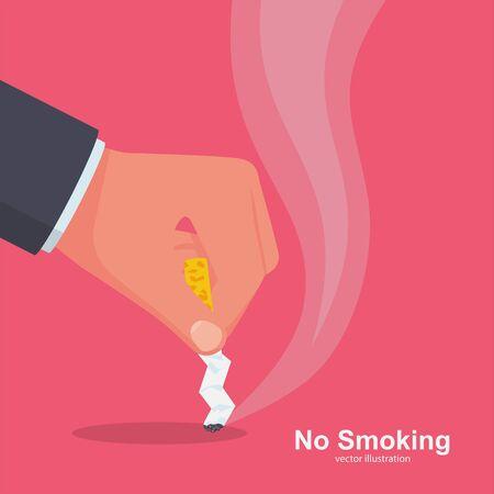 No Smoking. Quit smoking sign vector