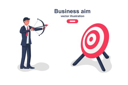 Business aim concept. Vector illustration flat design. Иллюстрация