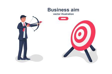 Business aim concept. Vector illustration flat design. Illustration