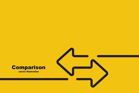 Deux flèches sont dirigées dans des directions différentes.