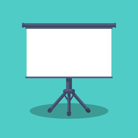 Board isolated. Business presentation. Frame empty for information and drawing. Vector illustration flat design. Isolated on white background.