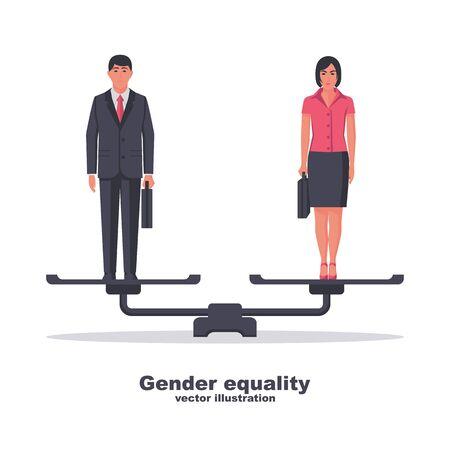 Gender equality concept. vector flat