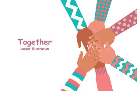 Together template landing page. Team building.