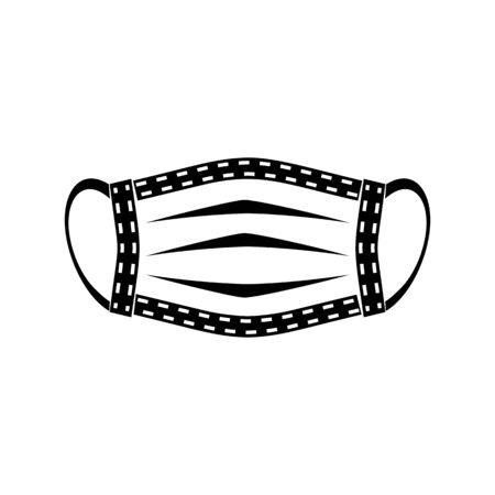 disposable medical mask black
