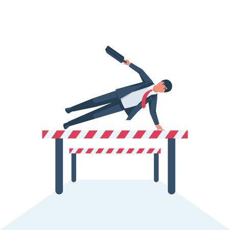 Overcoming problems. Solution challenge vector Ilustração