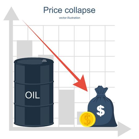 Oil barrels with gold coins Ilustrace