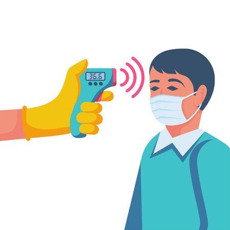 Digitales berührungsloses Infrarot-Thermometer im Handarzt