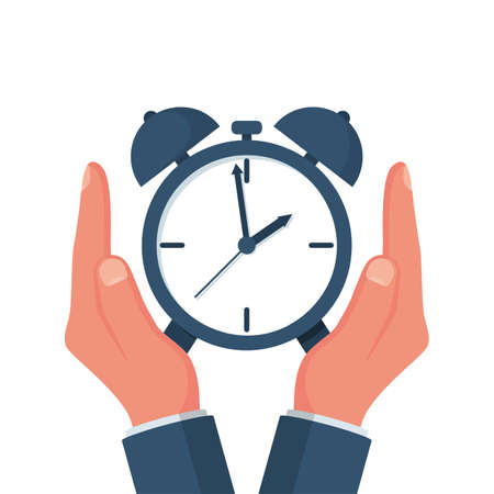 Protect time. Save time concept vector 向量圖像