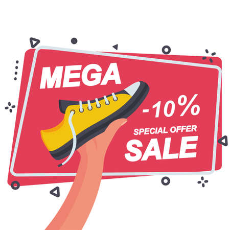 Mega sale template for advertising and promotion