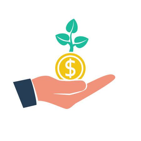Money growth. Investment concept. Finance and Money