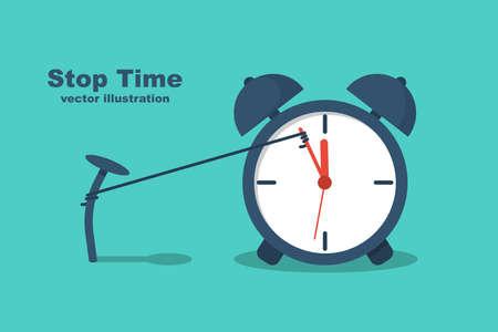 Stop time concept. Business metaphor