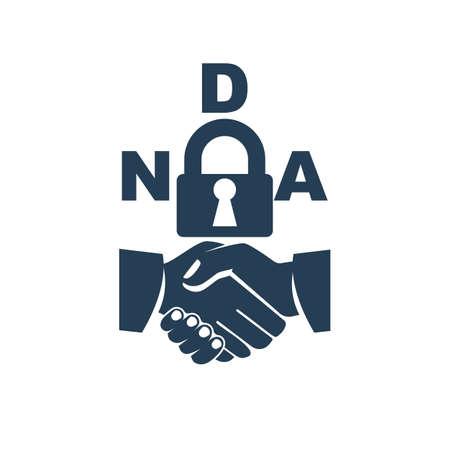 Black icon Non disclosure Agreement