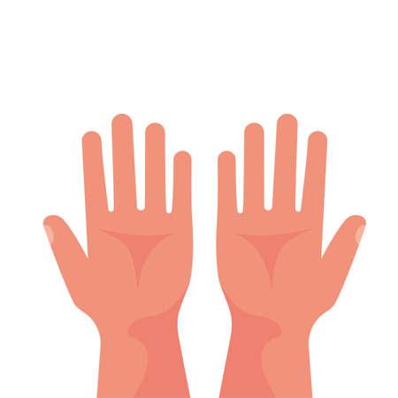 Palm empty. Gesture hands.Vector illustration flat design