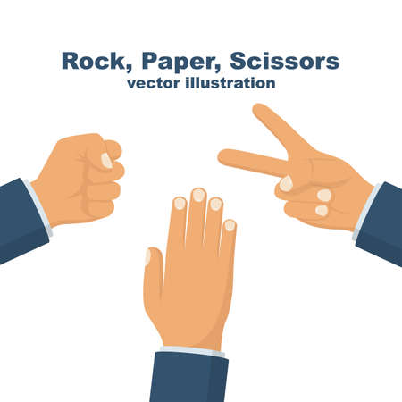 Rock, Scissors, Paper. Hand game