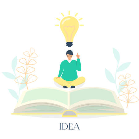 I have an idea landing page vector 일러스트