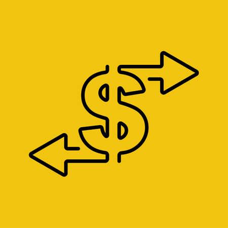 Money turnover sign Vecteurs