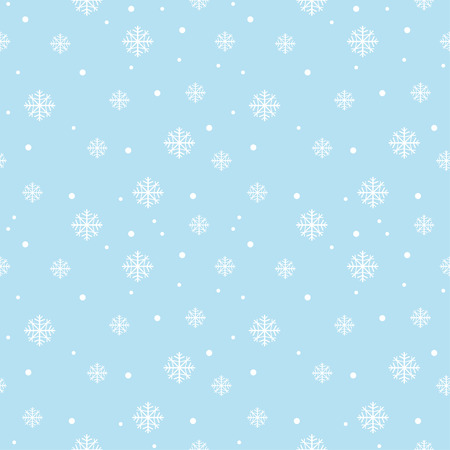 Seamless pattern with snowflakes, Winter background. Ilustrace