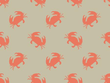 Seamless crab vector pattern. Ilustrace