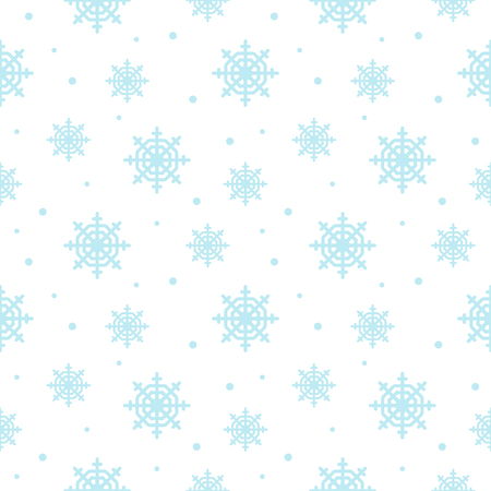 seamless pattern with snowflakes. Winter background.