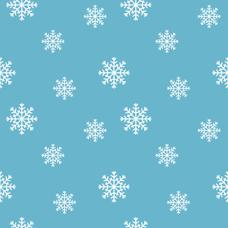 Winter background. Seamless snowflakes pattern.