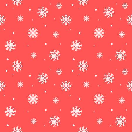 Seamless snowflakes pattern. Christmas background. Ilustrace