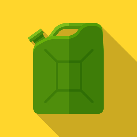Colorful canister icon in modern flat style with long shadow. Car parts and service vector illustration