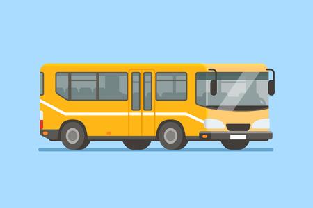 City bus vector illustration in modern flat style. Reklamní fotografie - 68869980