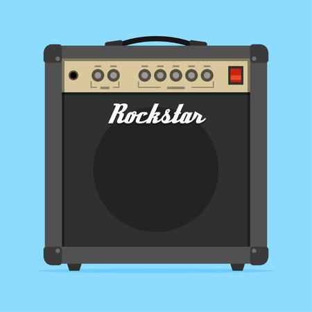 Guitar amp amplifier flat vector illustration. Ilustrace