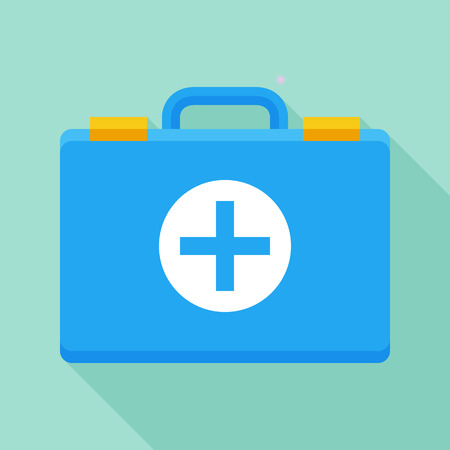 Vector first aid icon. Colorful medical and healthcare concept flat illustration Ilustrace
