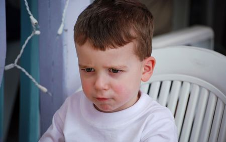 The toddler pout / terrible twos Stock Photo - 4267754