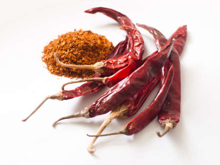 red dried chilli, food integrant for spicy cooking photo