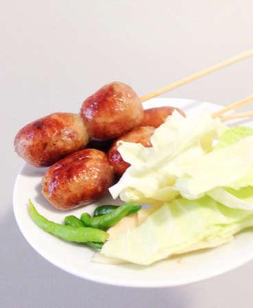 northeastern: Northeastern thai sausage Stock Photo