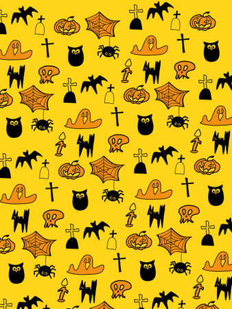 happy halloween background in clipping mask Vector