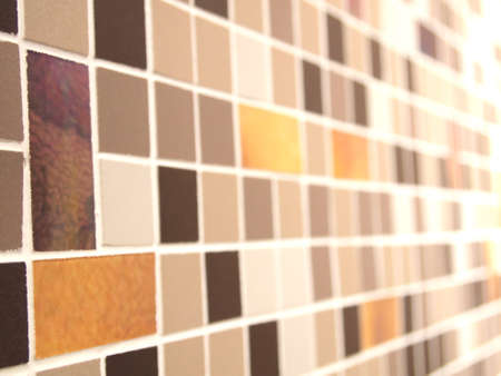 random size and color of mosaic wall