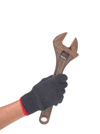 oiler: wrench in a hand with black glove