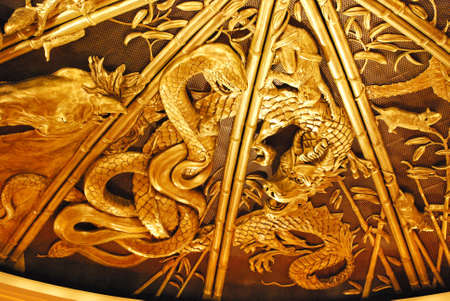 year of the snake: The Year of the Great Snake and the small snake in chinese zodiac Stock Photo