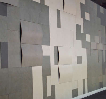 concave: concave pattern of tiles wall