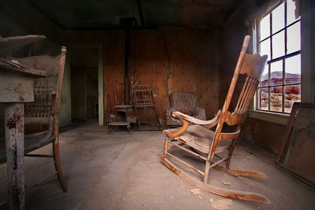 Living room in Bodie Ghost Town photo