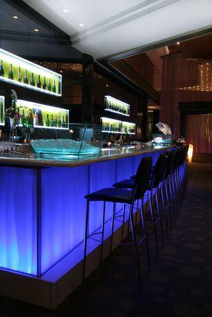 Bar in trendy night club