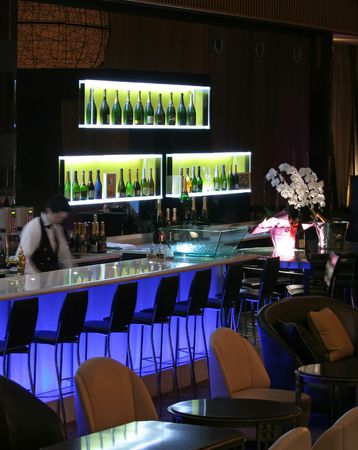 Bar in trendy night club