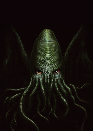 Cthulhu Digital Painting Stock Photo