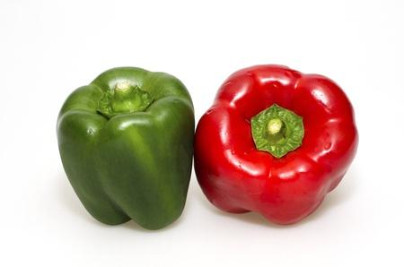 green and red pepper Standard-Bild