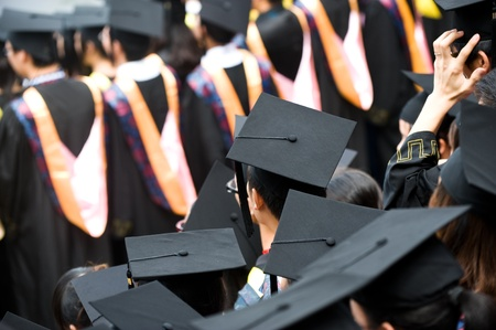 Shot of graduation caps during commencement Stock Photo - 13133560