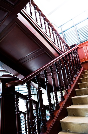 A classic staircase in a luxury home Stock Photo - 13236993