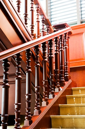 A classic staircase in a luxury home  photo