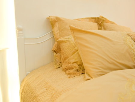 Image of comfortable pillows and bed. Stock Photo - 13236799